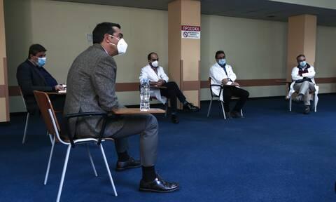 Τσίπρας από «Γ. Γεννημάτας»: Η κυβέρνηση ούτε μπορεί αλλά ούτε και θέλει να ενισχύει το ΕΣΥ