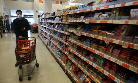 Κορονοϊός: Αυξήθηκαν κατά 17,1% οι πωλήσεις των σούπερ μάρκετ την πρώτη εβδομάδα του νέου lockdown