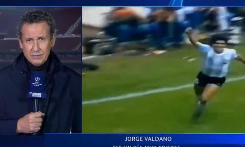 Ντιέγκο Μαραντόνα: Το συγκλονιστικό κλάμα του Χόρχε Βαλντάνο στον «αέρα» (vid)