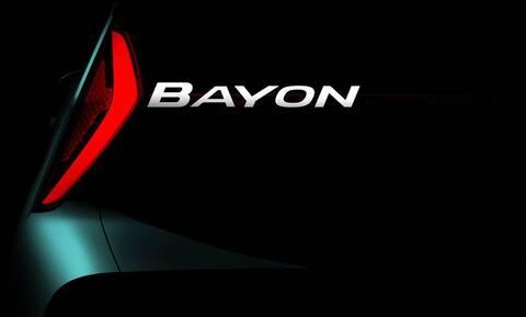 Το καινούργιο μικρό SUV της Hyundai θα λέγεται Bayon και αναμένεται του χρόνου
