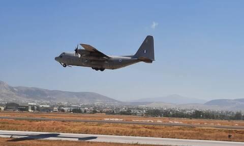 Κορονοϊός: Πρώτη αεροδιακομιδή τριών ασθενών από τη Βόρεια Ελλάδα στην Αθήνα με C-130