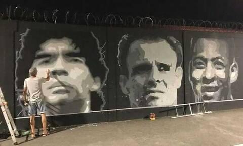Ιεροσυλία: Βεβήλωσαν γκράφιτι του Ντιέγκο Μαραντόνα