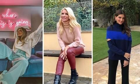 Πώς να συνδυάσεις το πουλόβερ σου: Εμπνεύσου από τις διάσημες μαμάδες