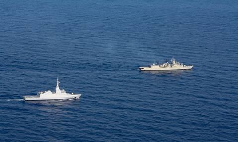 Κοινή ναυτική εκπαιδευτική άσκηση Ελλάδας - Αιγύπτου στα νότια της Καρπάθου – Εντυπωσιακές εικόνες