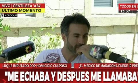 Απάντησε ο γιατρός του Ντιέγκο Μαραντόνα: «Έκανα ό,τι μπορούσα» (video+photos)