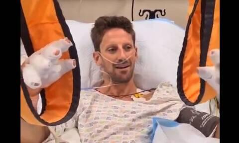 Formula1: Το πρώτο βίντεο του Ρομέν Γκροζάν από το νοσοκομείο - «Είμαι περίπου καλά»