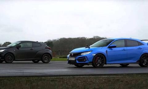 Ποιος κερδίζει στην κόντρα Honda Civic Type R & Toyota GR Yaris;