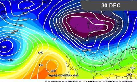Καιρός Χριστούγεννα: Η εκτίμηση του Αρναούτογλου για κρύο και χιόνια...