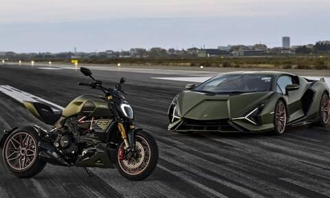 Το πιο γρήγορο αμάξι ενώθηκε με την θρυλική μοτοσικλέτα!