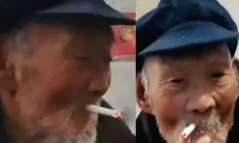 Πίνει, καπνίζει και για αυτό υποστηρίζει πως έφτασε 100 χρονών!