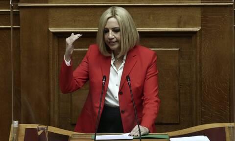 Φώφη Γεννηματά: Βολές κατά ΝΔ και ΣΥΡΙΖΑ - «Χρειάζεται φρένο στη συντηρητική οπισθοδρόμηση»