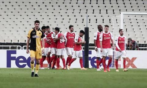 ΑΕΚ-Μπράγκα 2-4: Τραγική εμφάνιση, ντροπιαστική ήττα!
