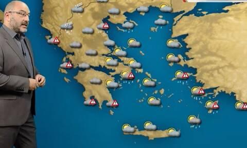 Καιρός - Αρναούτογλου: Προσοχή την Παρασκευή, έχει μάκρος η τροχιά βροχοπτώσεων (vid)
