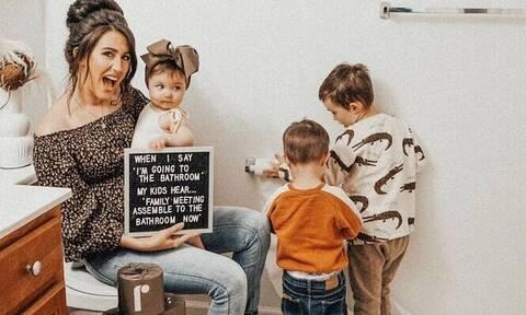 Πώς είναι η καθημερινότητα ενός γονιού με τρία μικρά παιδιά;