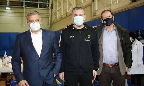 Κορονοϊός - ΑΕΚ: Λήξη συναγερμού μετά την επίσκεψη Πατούλη – Αρνητικά όλα τα τεστ