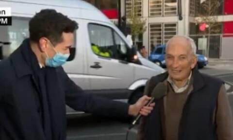 Εμβόλιο κορονοϊού: Ο 91χρονος Βρετανός που έγινε viral μετά από συνέντευξή στο CNN