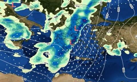 Καιρός: Κακοκαιρία σε δύο κύματα μέχρι τη Δευτέρα - Πού θα είναι έντονα τα φαινόμενα (vid)