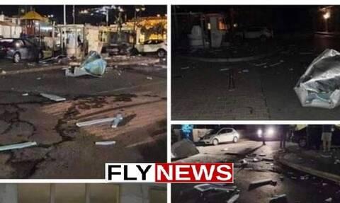 Μάνη: Ανατίναξαν ΑΤΜ - Η περιοχή θυμίζει πεδίο μάχης (pics)