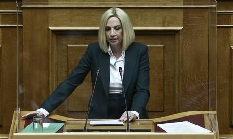Βουλή: «Μπαράζ» τροπολογιών από Γεννηματά - Για συντάξεις αναπηρίας και δώρο Χριστουγέννων