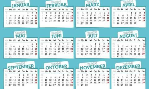 Αργίες 2021: Πότε «πέφτουν» τα τριήμερα της νέας χρονιάς