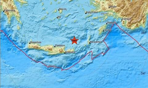 Νέος σεισμός κοντά στην Κρήτη - Βόρεια της Σητείας το επίκεντρο (pics)