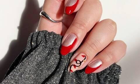 Πέντε κόκκινα nail art για να δοκιμάσεις μέσα στις γιορτές