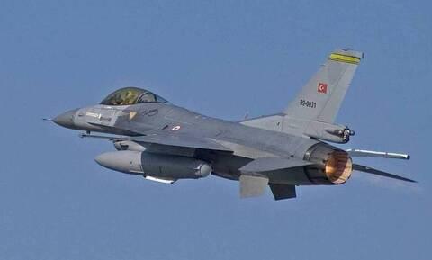 Υπερπτήσεις τουρκικών μαχητικών αεροσκαφών F-16 πάνω από Οινούσσες και Παναγιά