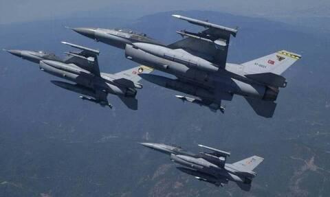 Νέα τουρκική πρόκληση: Υπερπτήσεις τεσσάρων F-16 πάνω από τους Ανθρωποφάγους