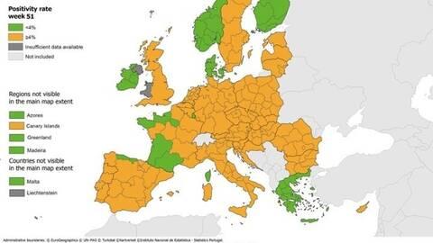 Κορονοϊός: Κάτω από το 4% ο δείκτης θετικότητας των τεστ covid-19 στην Ελλάδα