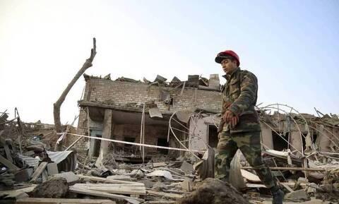 Ναγκόρνο Καραμπάχ: Τούρκοι στρατιώτες στο Αζερμπαϊτζάν για την επιτήρηση κατάπαυσης του πυρός