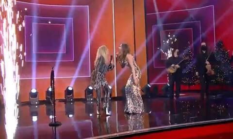 Βίσση - Βανδή: Το φιλί που έβαλε «φωτιά» στη σκηνή