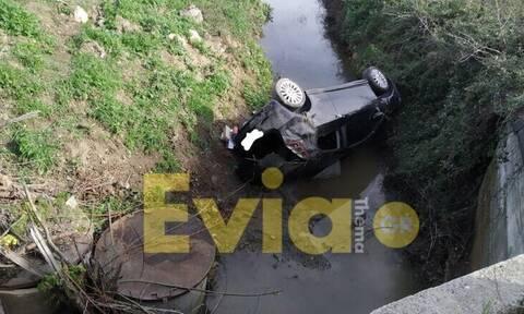 Αλιβέρι: Αυτοκίνητο κατέληξε στο ποτάμι!