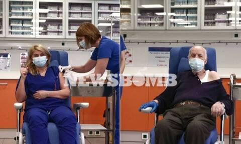 Κορονοϊός: Σπουδαία μέρα! Εμβολιάστηκαν οι δύο πρώτοι Έλληνες - Ποια είναι τα δύο συμβολικά πρόσωπα