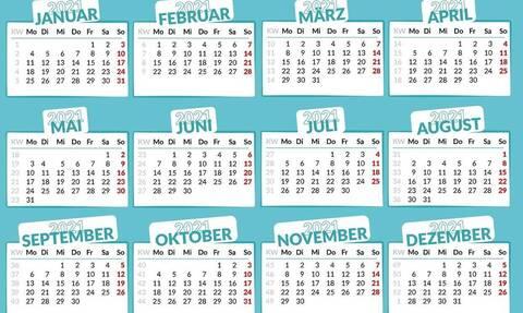 Αργίες 2021: Πότε «πέφτουν» - Αυτά είναι τα τριήμερα της νέας χρονιάς