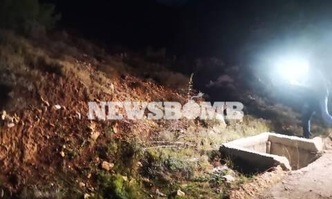 Ρεπορτάζ Newsbomb.gr - Θρίλερ με πτώμα στα Βίλια: Οι πρώτες εικόνες από το σημείο