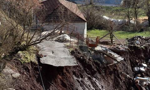 Καρδίτσα: Συναγερμός από τις κατολισθήσεις στο δήμο Λίμνης Πλαστήρα