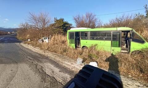 Σέρρες: Ένας νεκρός σε σφοδρή σύγκρουση ΙΧ με λεωφορείο που μετέφερε αστυνομικούς