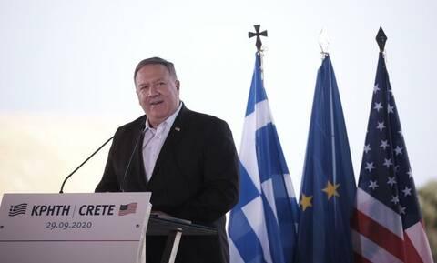 Στήριξη Πομπέο σε Μητσοτάκη: Το έργο ΗΠΑ - Ελλάδας στην Ανατολική Μεσόγειο διασφαλίζει την ελευθερία