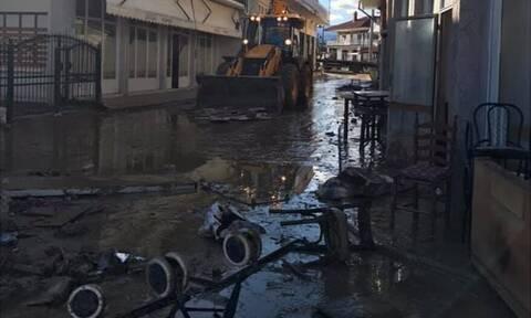 Κακοκαιρία: Εικόνες κατακλυσμού από την Ευκαρπία Σερρών