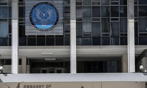 Σε κλοιό ασφαλείας η πρεσβεία των ΗΠΑ στην Αθήνα