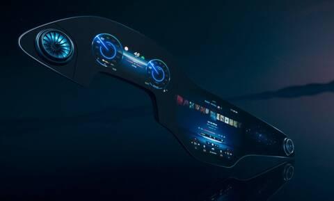 Η ηλεκτρική Mercedes EQS με οθόνη πλάτους 141 εκατοστών