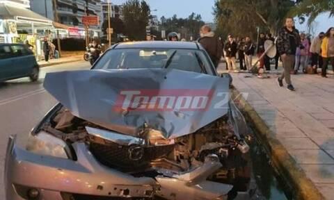 Πάτρα: Τρομακτικό τροχαίο – Αυτοκίνητο παρέσυρε δύο πεζούς (pics+vid)