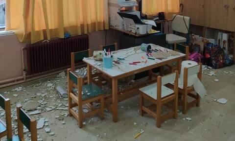 Κέρκυρα: Λαχτάρα για τους μαθητές στο 6ο νηπιαγωγείο - Κατέρρευσε τμήμα της οροφής