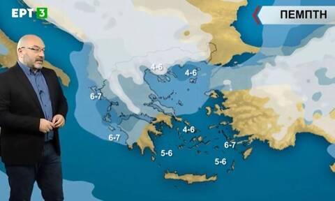 Καιρός: Πού θα χιονίσει μέχρι το Σάββατο; Η ανάλυση του Αρναούτογλου (vid)