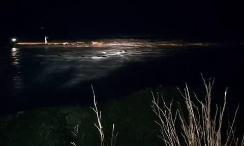 Κακοκαιρία - Μυτιλήνη: Δύσκολη νύχτα στην Καλλονή - «Έσπασε» ο Τσικνιάς