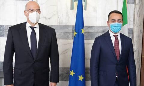 Νίκος Δένδιας: Θα θέλαμε ισχυρότερη στήριξη από την Ιταλία για τις κυρώσεις στην Τουρκία