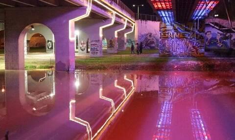 Νυχτερινές εικόνες από τον Πηνειό – Στο όριο της υπερχείλισης η στάθμη του νερού
