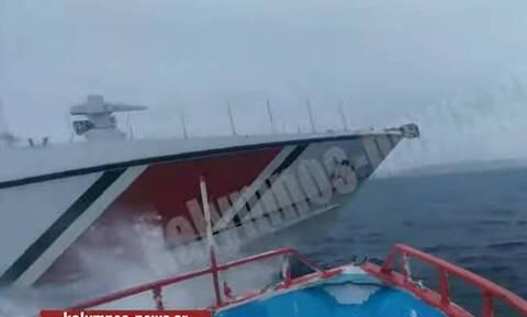 Ίμια: Νέα τουρκική πρόκληση - Παρενόχληση ελληνικού αλιευτικού από τουρκική ακταιωρό (vid)