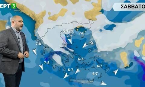 Καιρός - Αρναούτογλου: Ο χάρτης των χιονοπτώσεων από Παρασκευή έως Τρίτη