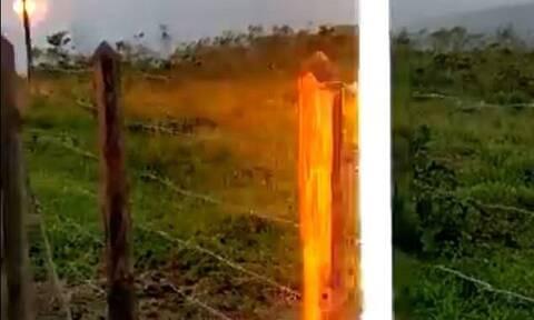 Απίστευτο βίντεο: Βραζιλιάνος χτυπήθηκε από κεραυνό και το κατέγραψε με το κίνητό του